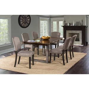Emerson 7 PC Rectangle Dining Set - Gray Sheesham