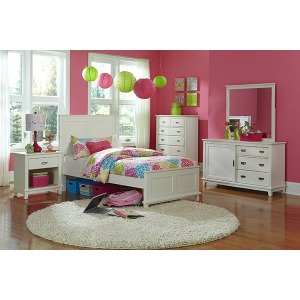 Bailey 5pc Twin Bedroom Suite - White