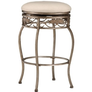 Bordeaux Backless Swivel Barstool