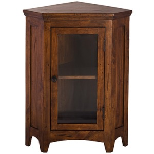Tuscan Retreat Corner Cabinet - Antique Pine