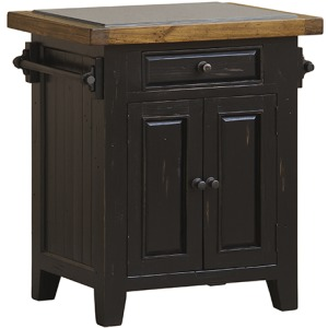 Tuscan Retreat Small Kitchen Island - Black