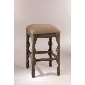 Carrara Backless Barstool - Graywash