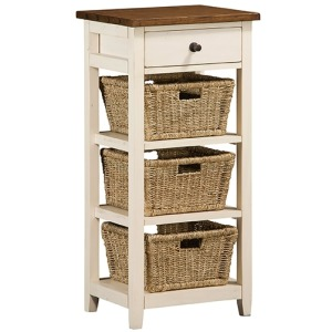 Tuscan Retreat 3 Basket Stand - Country White