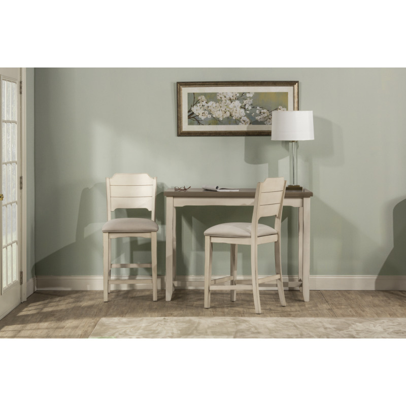Clarion 3-Piece Counter Height Side Dining Set With Open