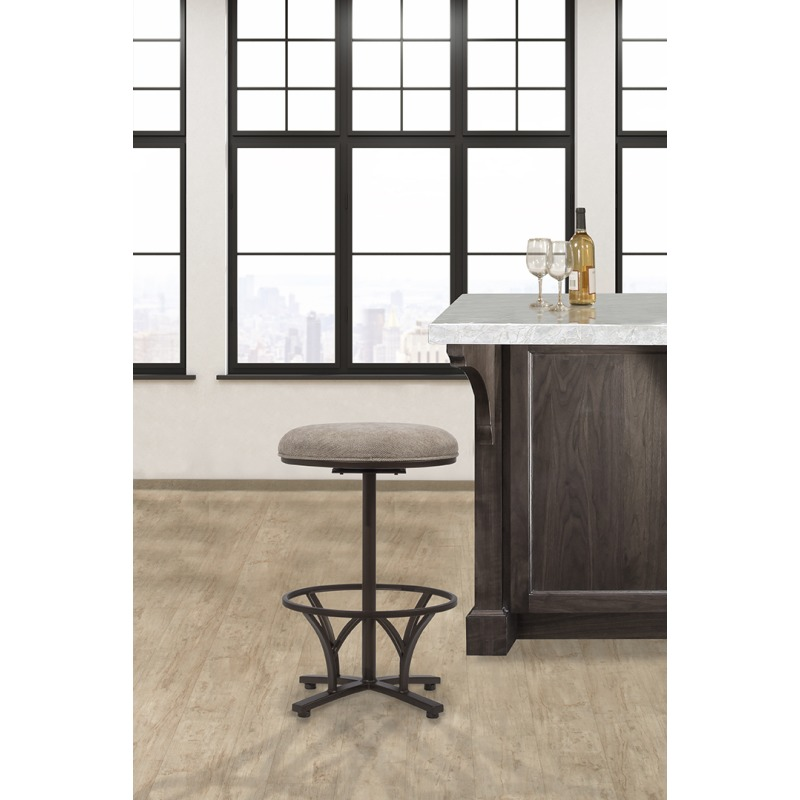 Keckley Commercial Grade Swivel Bar Stool