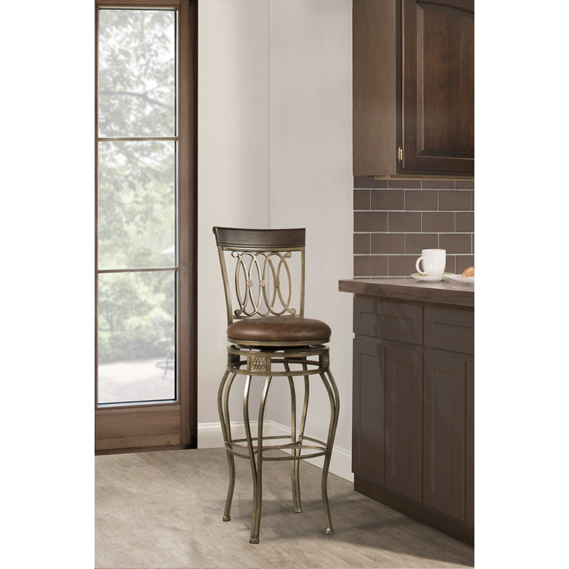 Peachy Montello Swivel Counter Stool By Hillsdale Furniture Evergreenethics Interior Chair Design Evergreenethicsorg
