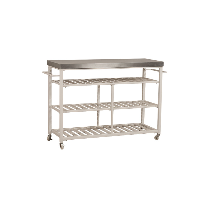 Kennon Kitchen Cart - Stainless Steel