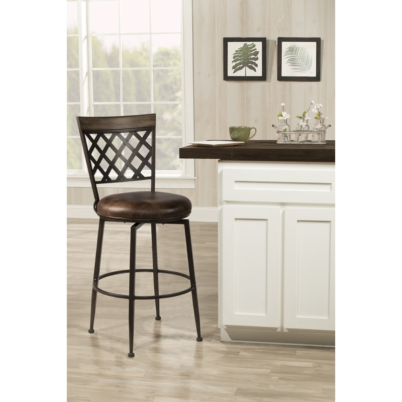 Greenfield Commercial Grade Swivel Bar Stool - Dark Brown