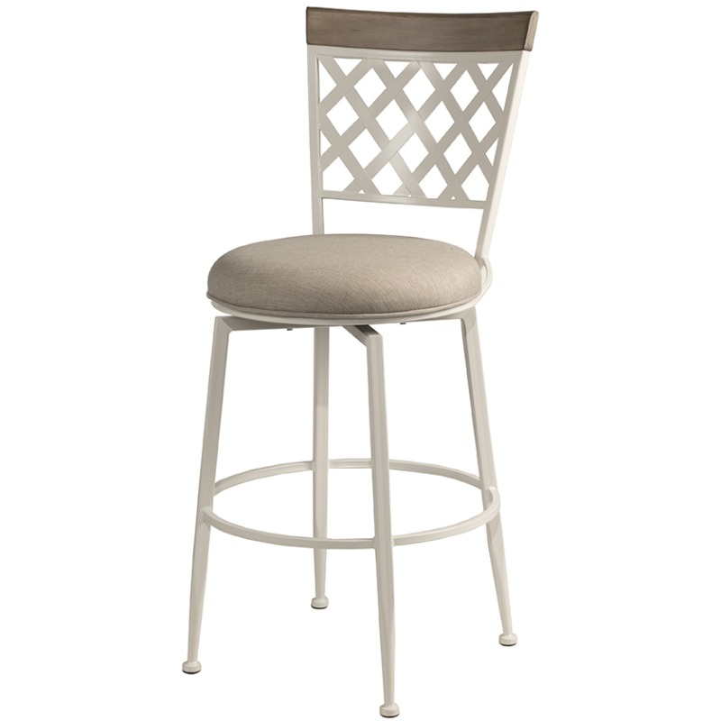 Greenfield Commercial Grade Swivel Counter Stool - White