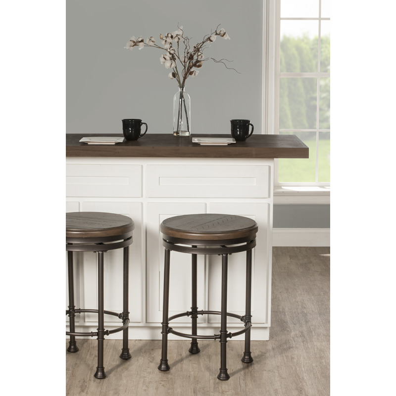 Terrific Casselberry Backless Round Swivel Counter Stool By Hillsdale Gmtry Best Dining Table And Chair Ideas Images Gmtryco