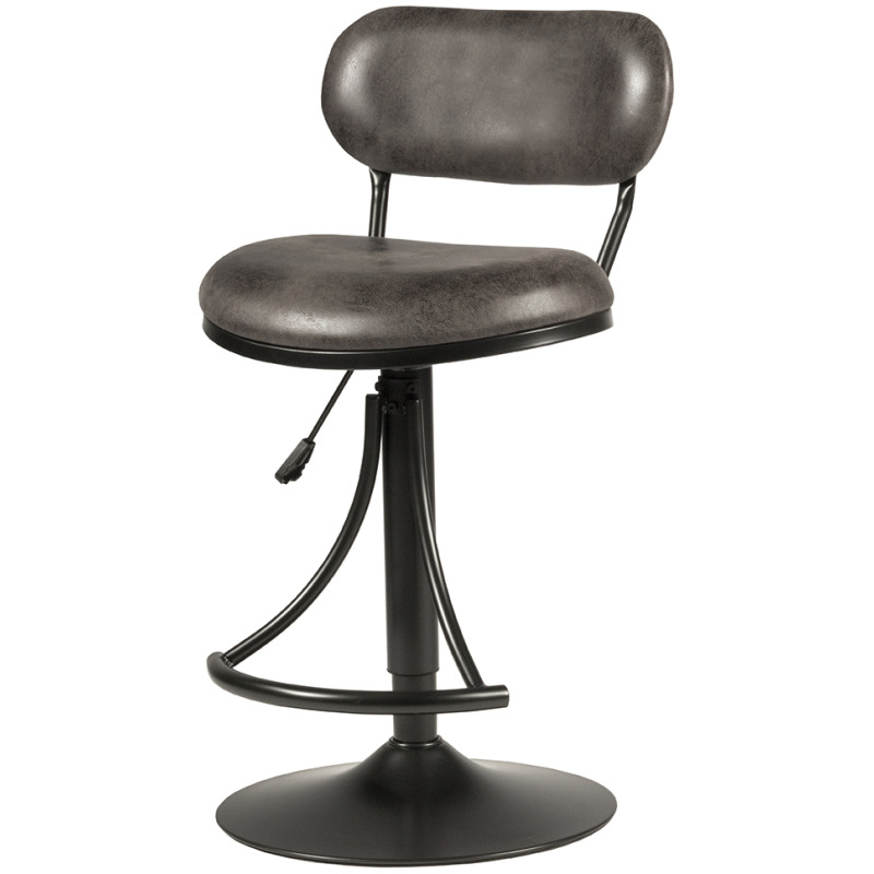 Athena Swivel Adjustable Stool - Black