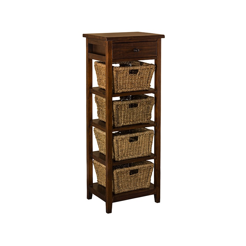 Tuscan Retreat® 4 Basket Stand - Antique Pine
