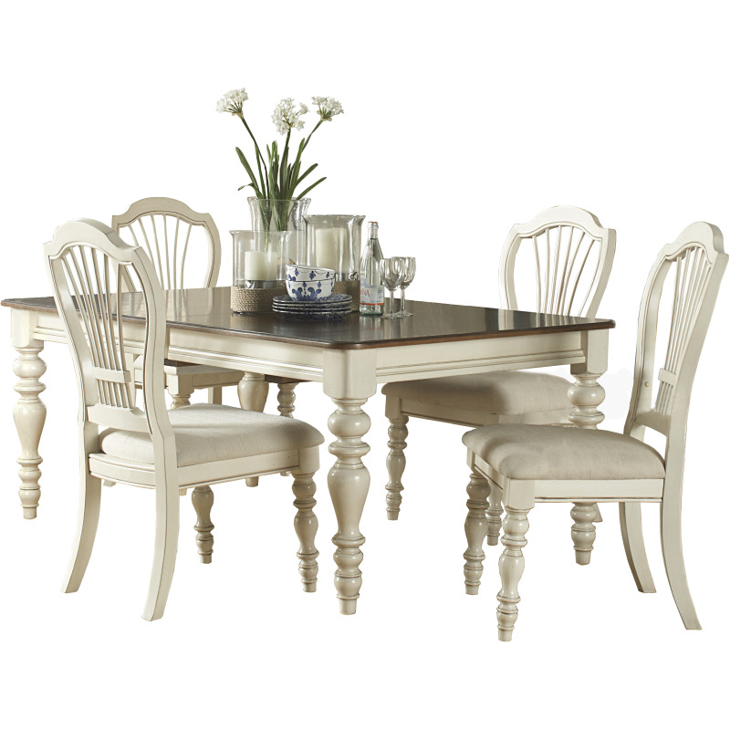 Hillsdale Furniture Bennington 5pc Dining Room Set In: Pine Island 5pc Dining Set With Wheat Chairs