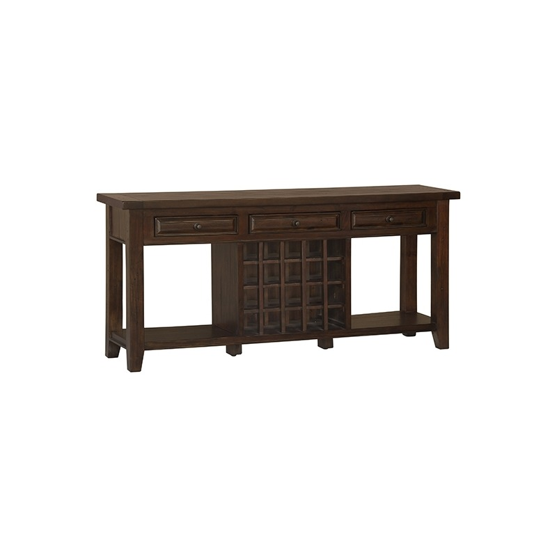 Tuscan Retreat™ Wine Sofa Table - Rustic Mahogany