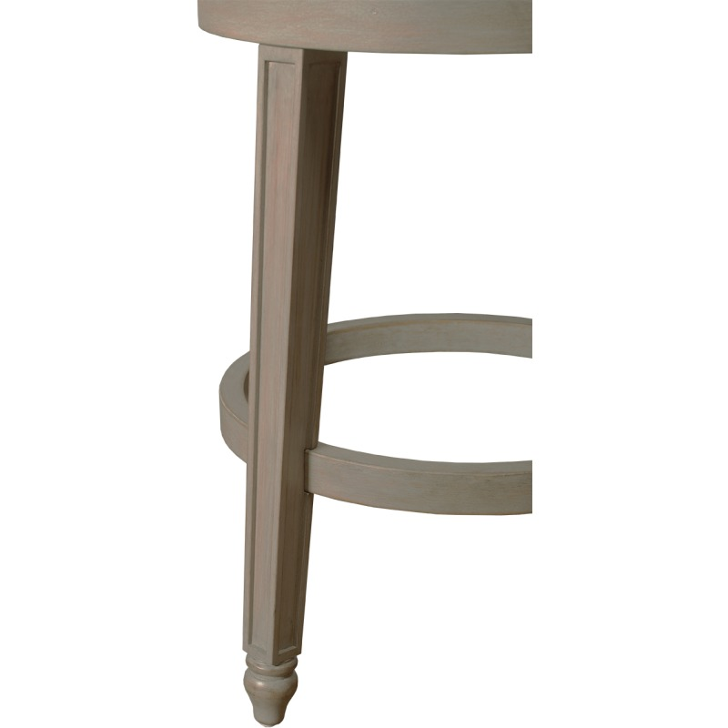 Adelyn Swivel Bar Stool - Graywash Wood with Putty Gray Fabric