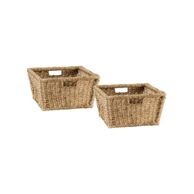 Tuscan Retreat Blanket Bench Baskets (2) - Seagrass