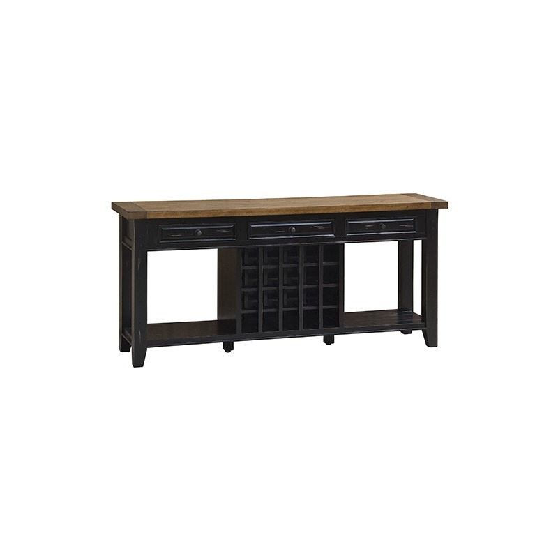 Tuscan Retreat™ Wine Soda Table - Black
