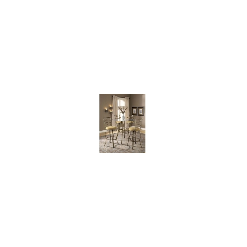 Brookside 3pc Bistro Set with Marin  Barstools