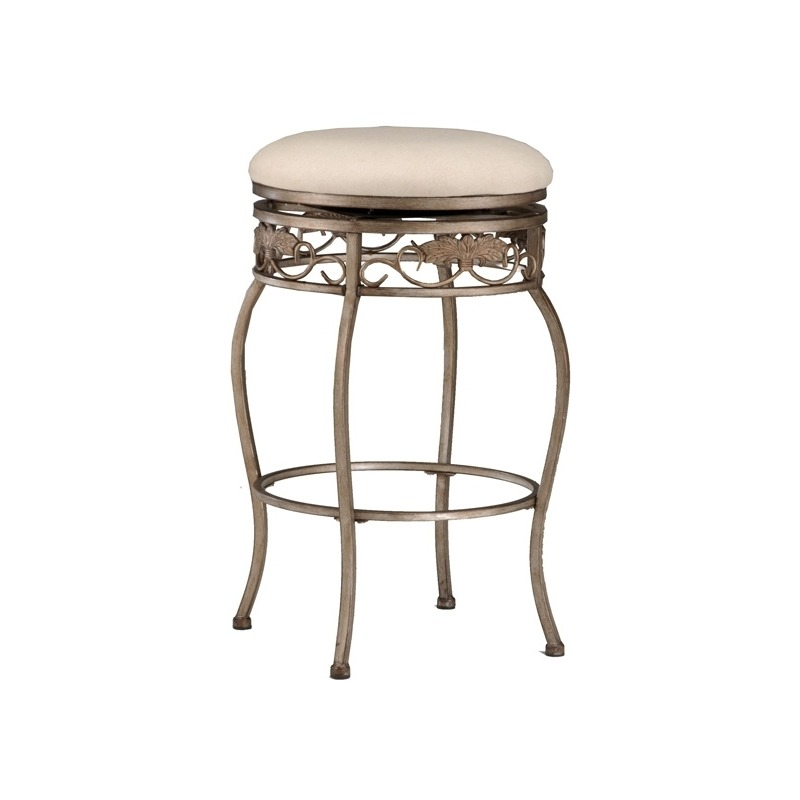 Super Bordeaux Backless Swivel Barstool By Hillsdale Furniture Caraccident5 Cool Chair Designs And Ideas Caraccident5Info
