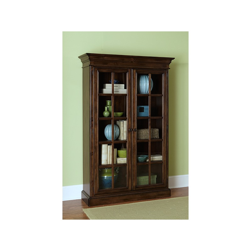 Pine Island Large Library Cabinet - Dark Pine