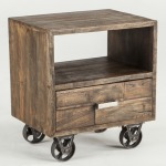 Industrial Loft, Night Chest -- Weathered Natural