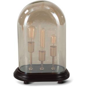 Luminaire Edison 3-Light Oval Glass Dome Table Lamp