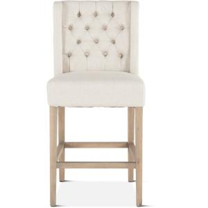 Lara Counter Chair Off-White w/Napoleon Legs