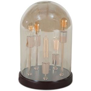 Luminaire Edison 5-Light Round Glass Dome Table Lamp