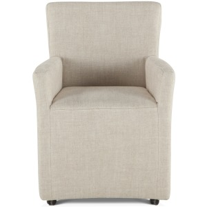 Peabody Linen Dining Arm Chair