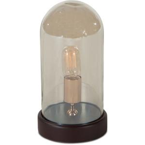 Luminaire Edison 1-Light Round Glass Dome Table Lamp