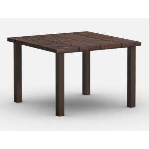 """Timber 48"""" Square Balcony Table with Hole"""