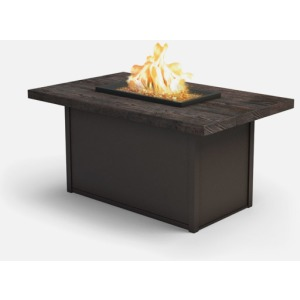 Timber Fire Tables Rectangular Chat Fire Pit