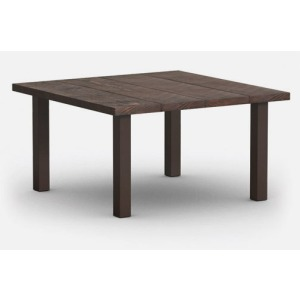 """Timber 48"""" Square Dining Table with Hole"""