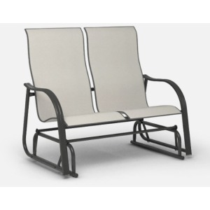 Palisade  (Steel) High Back Loveseat Glider