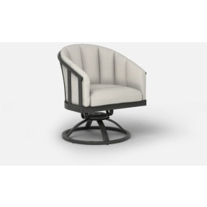 Liberty  (Aluminum) Swivel Rocker Barrel Chair