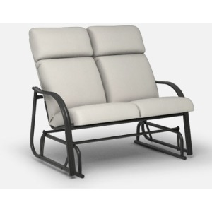 Palisade Cushion Dining  (Steel) High Back Loveseat Glider