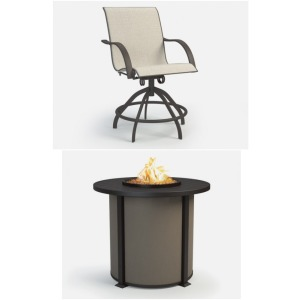 5 Piece Outdoor Fire Table Set