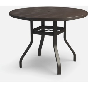 "Breeze 48"" Round Balcony Table with Hole"