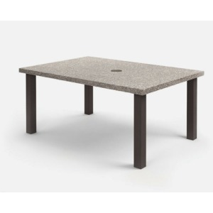 """Shadow Rock 42"""" x 62"""" Rectangular Dining Table with Hole"""