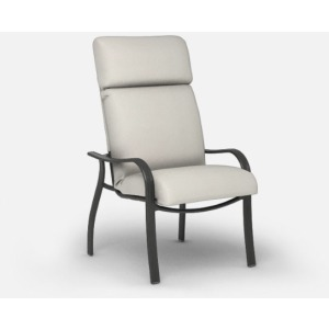 Holly Hill Cushion Dining  (Aluminum) High Back Dining Chair