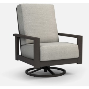 Elements Cushion High Back Swivel Rocker Chat Chair