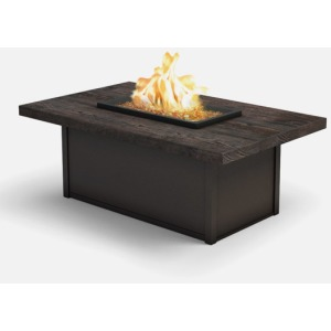 Timber Rectangular Coffee Fire Pit