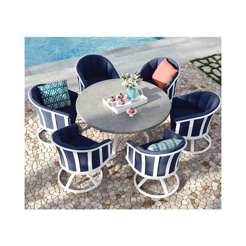 Liberty  (Aluminum) Swivel Rocker Barrel Chair