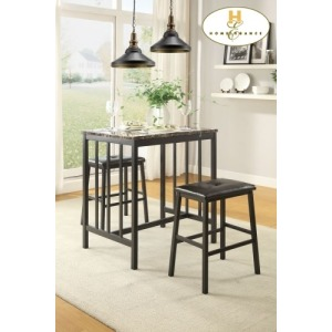 3-Piece Pack Counter Height Set Table: 24 x 32 x 36H Stool: 19 x 13 x 24H