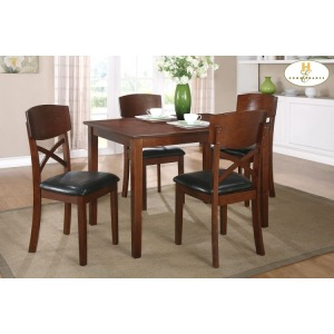 5-Piece Pack Dinette Set Table: 35.5 x 47.25 x 30H Chair: 18 x 20.5 x 36H