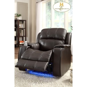 Power Reclining Chair with Massage, LED & Cup Cooler