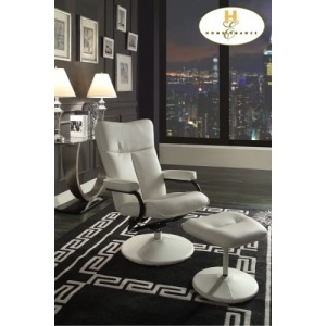 Swivel Reclining Chair with Ottoman Chair: 25 x 28.5 x 45H Ottoman: 18 x 17 x 15.5H
