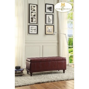 Lift Top Storage Bench, Red