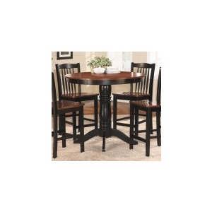 5-Piece Pack Counter Height Set Table : 42 Dia x 36H Chair : 18 x 20.25 x 40H