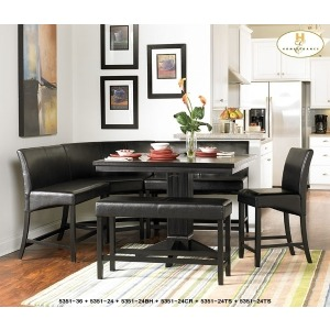 PAPARIO COLLECTION COUNTER HEIGHT 2 SEATER CHAIR